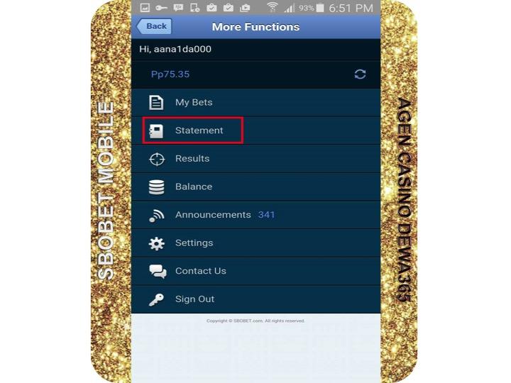 AGEN CASINO DEWA365 | CARA BERMAIN SBOBET MOBILE SMARTPHONE
